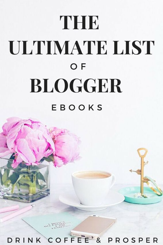 The Ultimate List of Blogger Ebooks