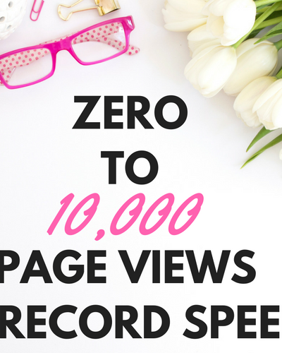 ZERO TO 10,000 PAGE VIEWS IN RECORD SPEED!