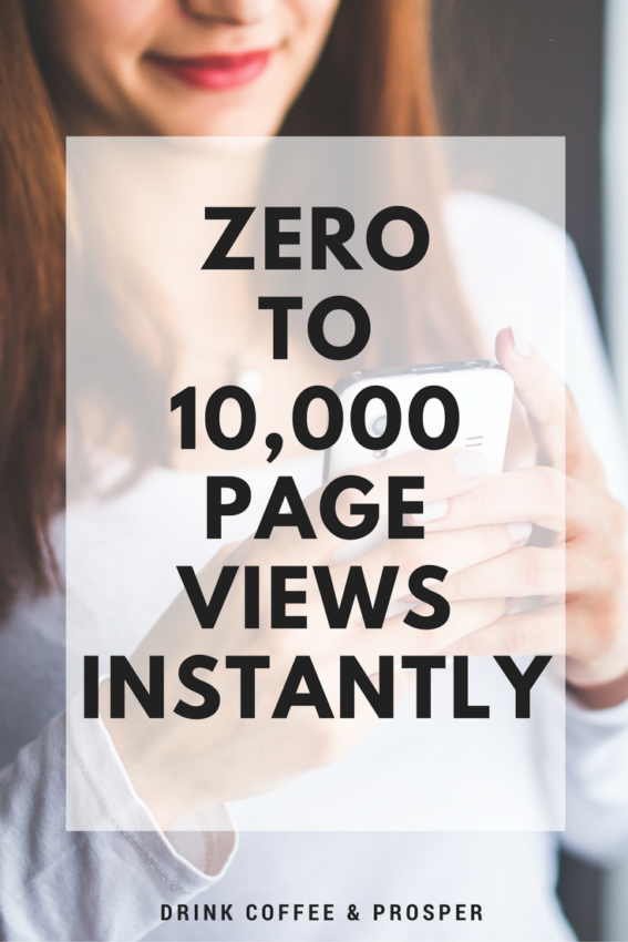 Zero to 10,000 Page Views