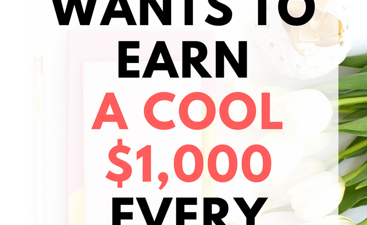 How I earn a cool $1,000 extra every month
