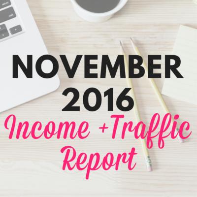 NOVEMBER 2016 INCOME REPORT