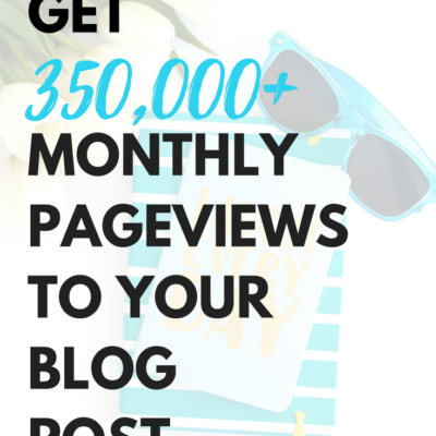 HOW TO GET 350,000+ PAGE VIEWS TO YOUR BLOG