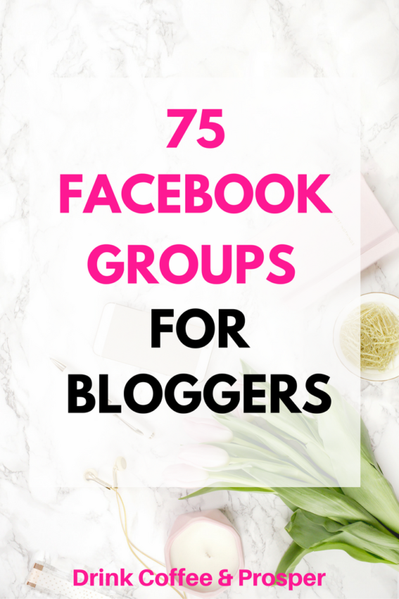 75 Facebook groups for bloggers