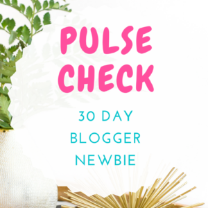 PULSE CHECK: 30 DAY BLOGGER NEWBIE REPORT