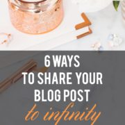 6 ways to share your blog post from infinity and beyond!