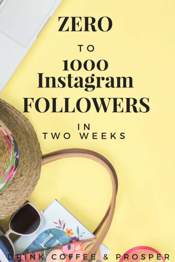 Zero to 1000 Instagram Followers in 2 weeks