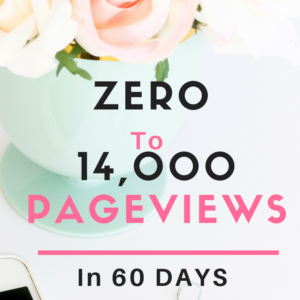 HOW I WENT FROM ZERO TO 14,000 PAGEVIEWS IN 60 DAYS
