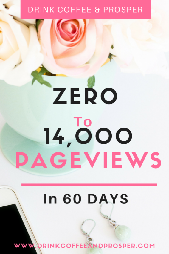 How I Went zero to 14,000 Pageviews in 60 days