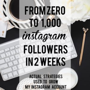 ZERO to 1000 INSTAGRAM FOLLOWERS IN 14 DAYS!